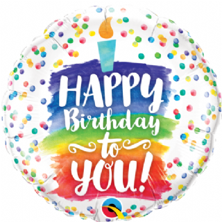 Tremendous Happy Birthday Rainbow Cake Foil Balloon Free Delivery Personalised Birthday Cards Paralily Jamesorg